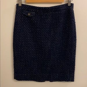 J.Crew Navy Blue Tweed Skirt